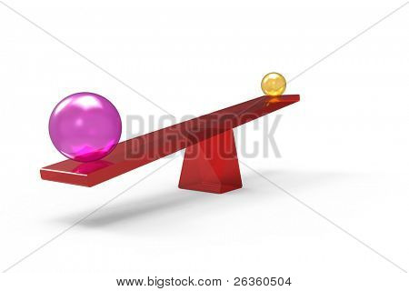 3d spheres on balance