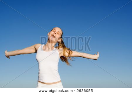 Happy Smiling Young Woman
