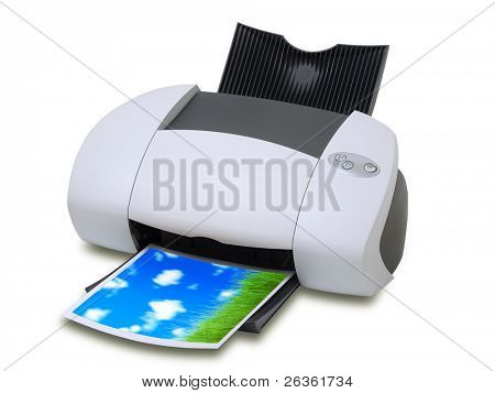 Printer and color card with landscape