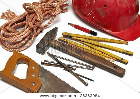 set of carpentry tools