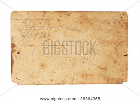 vintage postcard backside