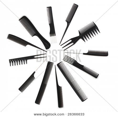 set of combs, hairstyle accessories