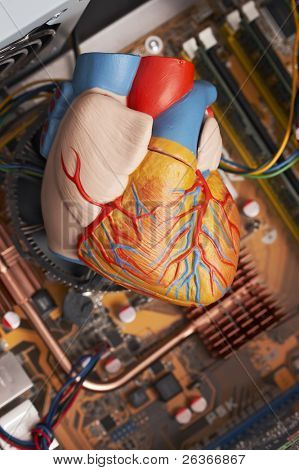 computer heart concept