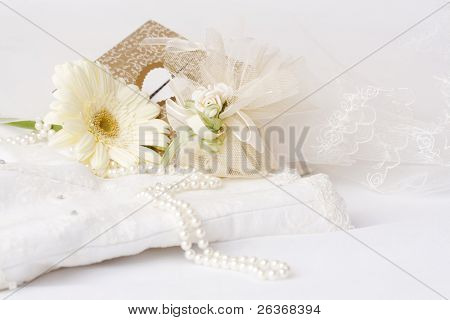 wedding background, corset, flower, card and favours