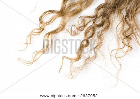 close-up of curly blond hair