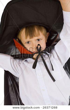 retrato de um menino em traje de assistente