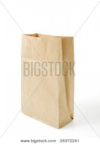 empty grocery paper bag