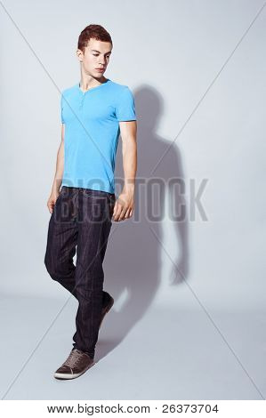 handsome young male model posing