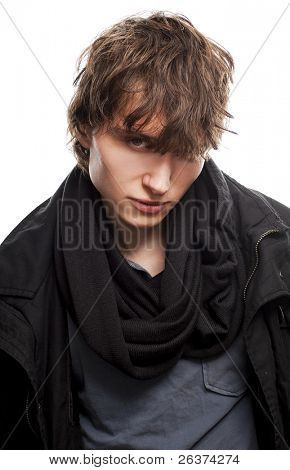 young male model posing in trendy clothes