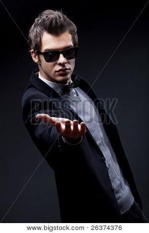 portrait of an elegant fashion man