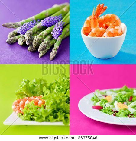Gesundes Essen frisch Gruppe