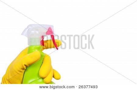 Hand In Glove With Sprayer
