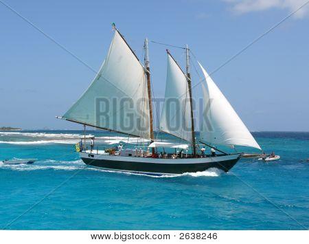 Sail Boat On The Sea