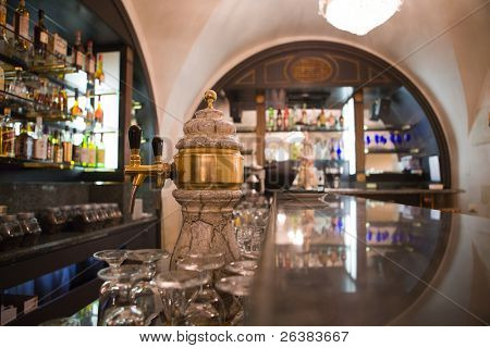 Bar counter in some luxury restaurant