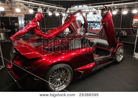 Essen, Germany - Nov 29: Lamborghini Lp 640 E-gear Shown At The Essen Motor Show In Essen, Germany,