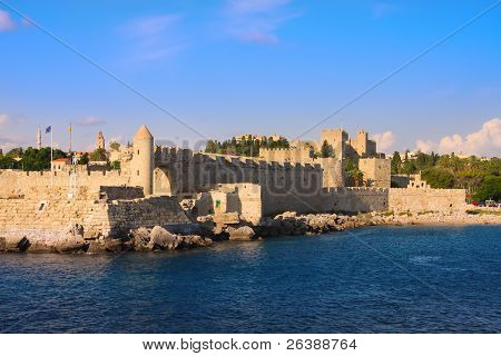 Greece. Rhodes. An ancient fortification round an old city