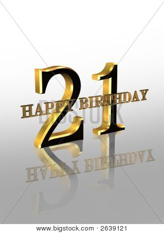 St Birthday Card D Graphic Image Photo Bigstock - 21st birthday invitation card background
