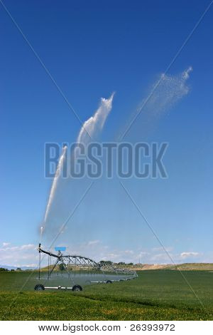 an automated irrigation system in rural wyoming
