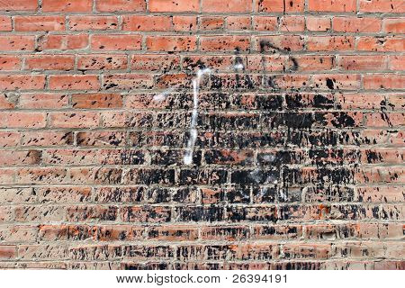Grunge Brick wall Background mit Teer splatter
