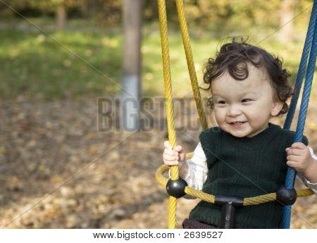 On A Swing.