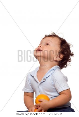 The Child With Orange.