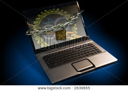 Locked Laptop Notebook
