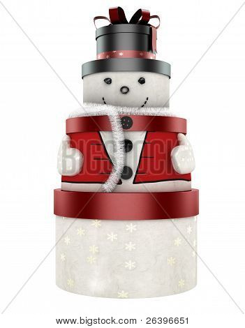 3D Cute Snow Man