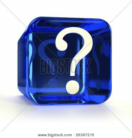 Blue Question Mark Icon