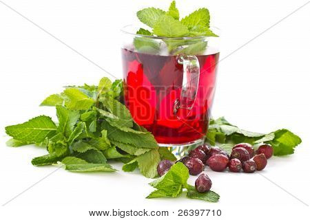 Rosehip Tea And Mint