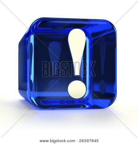 Blue Exclamation Mark Icon