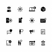 Gdpr Icons. Privacy, Cookie Policy. World Compliant Safety And Confidential Business Vector Symbols. poster