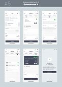 Wireframe Kit For Mobile Phone. Mobile App Ui, Ux Design. New Ecommerce Screens: Cart, Checkout, Ord poster