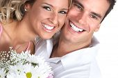 picture of love couple  - Young love couple smiling - JPG