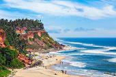 One of India finest beaches - Varkala beach, Kerala, India poster