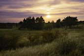 Sunset In Nature Landscape. Fields And Countryside Landscape. Nature Landscape. Sunset In Nature Lan poster