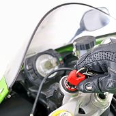image of beep  - Biker hand and key - JPG