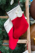 Christmas Stocking, On The Street A Pair Of Christmas Stockings poster