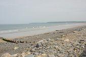 Beach Of Large Shingle Stones, Westward Ho!, North Devon, England poster