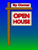 Open House By Owner Sign poster