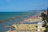 View On The Adriatic Coastline With The Beaches In The Montesilvano Pescara, Abruzzo Region, Italy poster
