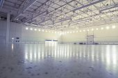 stock photo of premises  - Large modern empty industrial premises - JPG