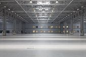 Large modern empty storehouse