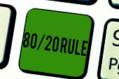 Handwriting Text 80 20 Rule. Concept Meaning Pareto Principle 80 Percent Effects Come From 20 Causes poster