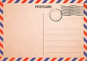 Postcard. Air Mail. Postal Card Illustration For Your Design. Travel Card Design. Vintage Postcard.  poster