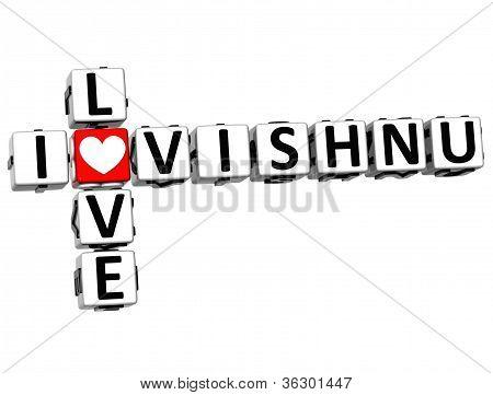 3D I Love Vishnu Crossword