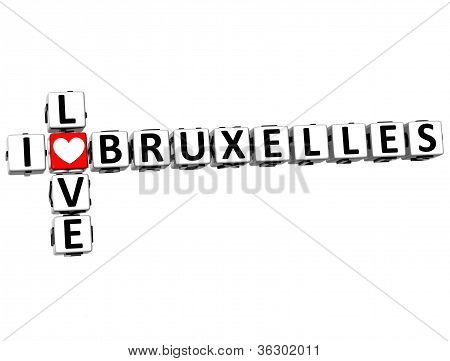 3D I Love Bruxelles Crossword