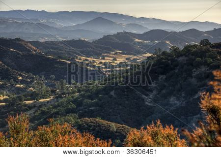 Sunrise On Central California Diablo Range