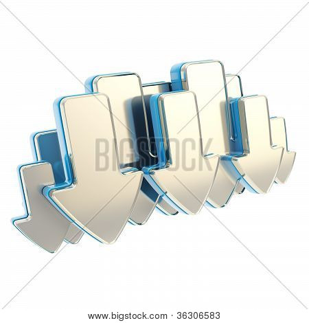 Cloud Technology Emblem Icon Tag Made Of Arrows