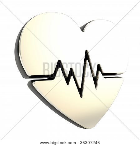 Heart Issues And Health Care Emblem Icon Isolated