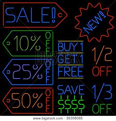 Neon Sale Signs